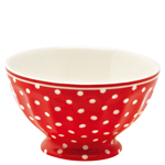 French bowl spot red L