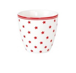mini latte cup star small white