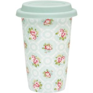 porcelain travel mug smilla mint