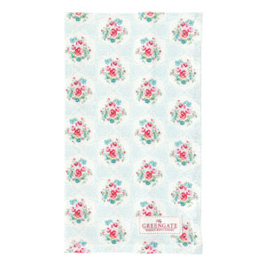 tea towel olivia pale blue